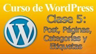 Curso de WordPress 5 – Páginas-Posts-Categorías-Etiquetas