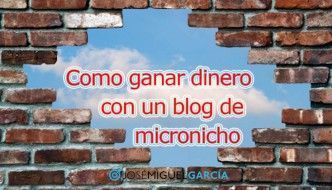 Como ganar dinero con un blog de micronicho