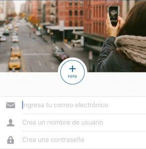 Crear cuenta Instagram contactos